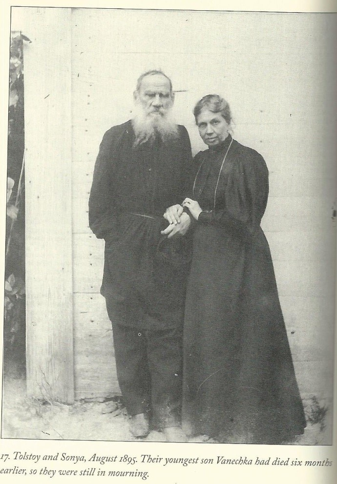 Tolstoy and wife Sonya.